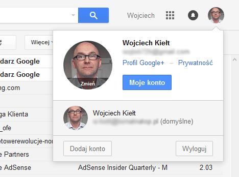 Przełączanie kont Google
