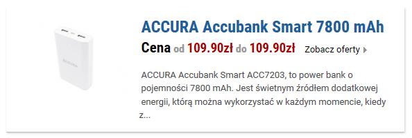 ACCURA Accubank Smart ACC7203 7800 mAh