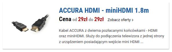 ACCURA HDMI - miniHDMI 1.8m
