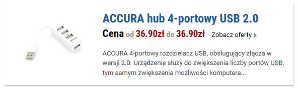 ACCURA hub 4-portowy USB 2.0