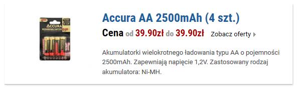 Accura AA 2500mAh (4 szt.)