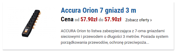 Accura Orion 7 gniazd 3 m