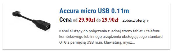 Accura micro USB 0.11m