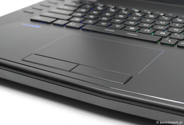 MSI GT72 2QE Dominator Pro touchpad