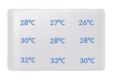 Asus Transformer Book T200TA temperatury spoczynek