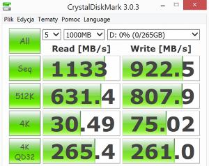 Asus NX500JK test CrystalDiskMark 2