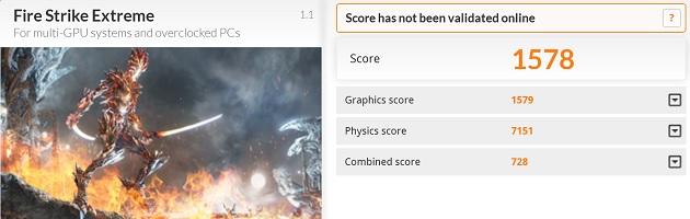 Asus NX500JK FireStrike Extreme