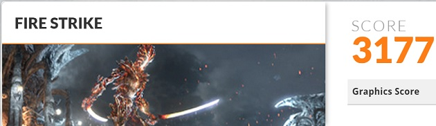 Asus NX500JK FireStrike