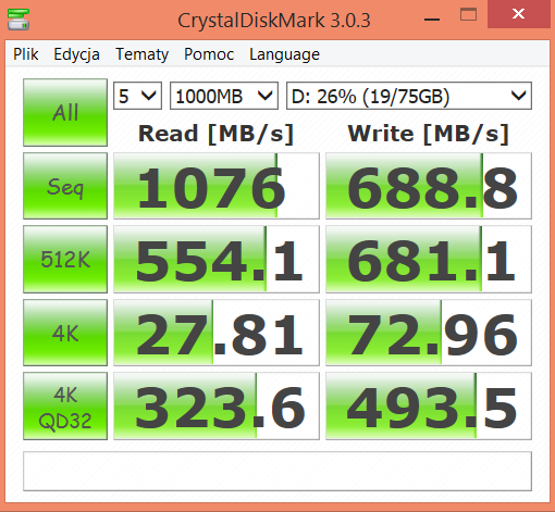 MSI GS30 Shadow test CrystalDiskMark