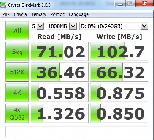Asus Pro B551LA test CrystalDiskMark