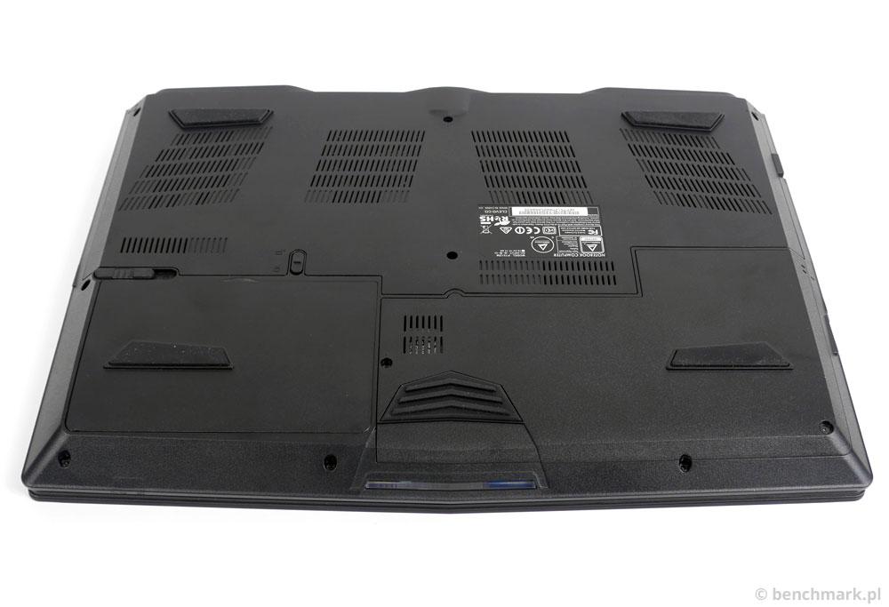 Hyperbook X15 spód obudowy