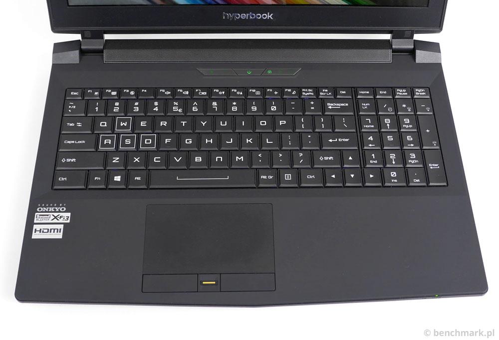 Hyperbook X15 panel roboczy