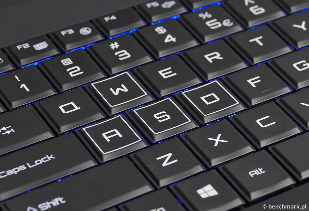 Hyperbook X15 klawisze wasd