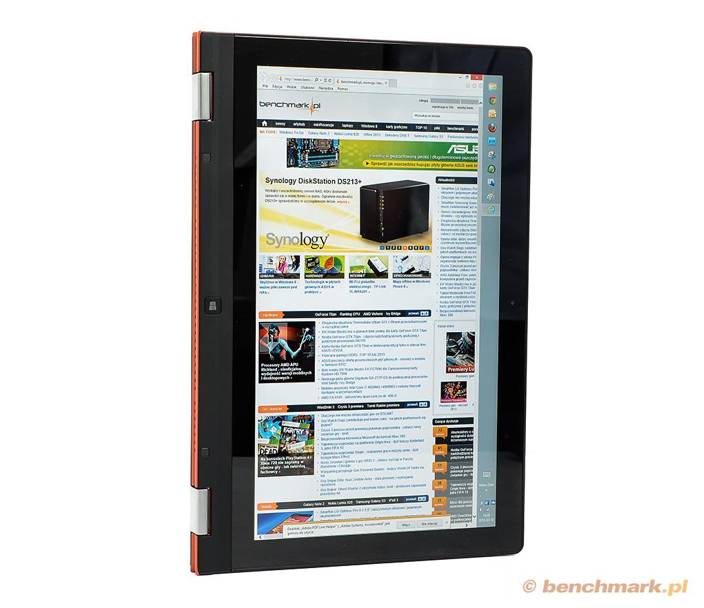 Lenovo Yoga 13 tryb tabletu