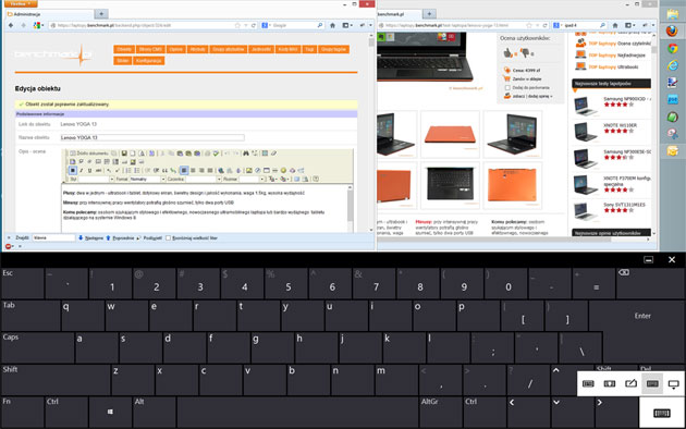 ekranowa klawiatura dotykowa systemu Windows 8