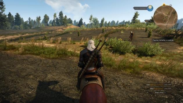 Wiedźmin 3: Dziki Gon - jazda na koniu