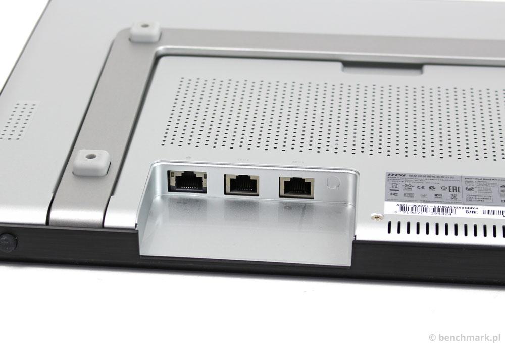MSI AP16 Flex złącza tył