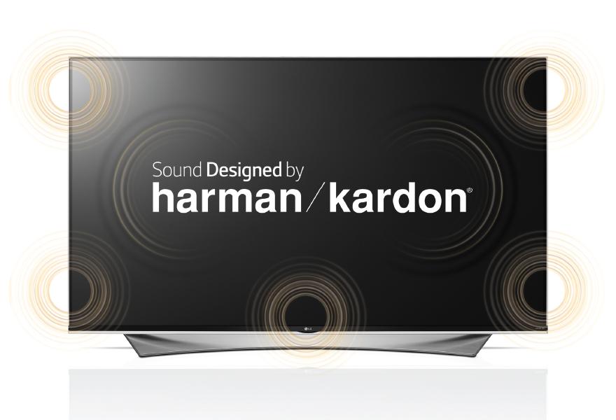 LG 55UF950V - wizualizacja dźwięku