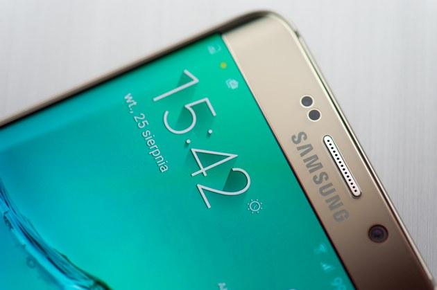 Samsung Galaxy S6 edge plus - góra ekranu