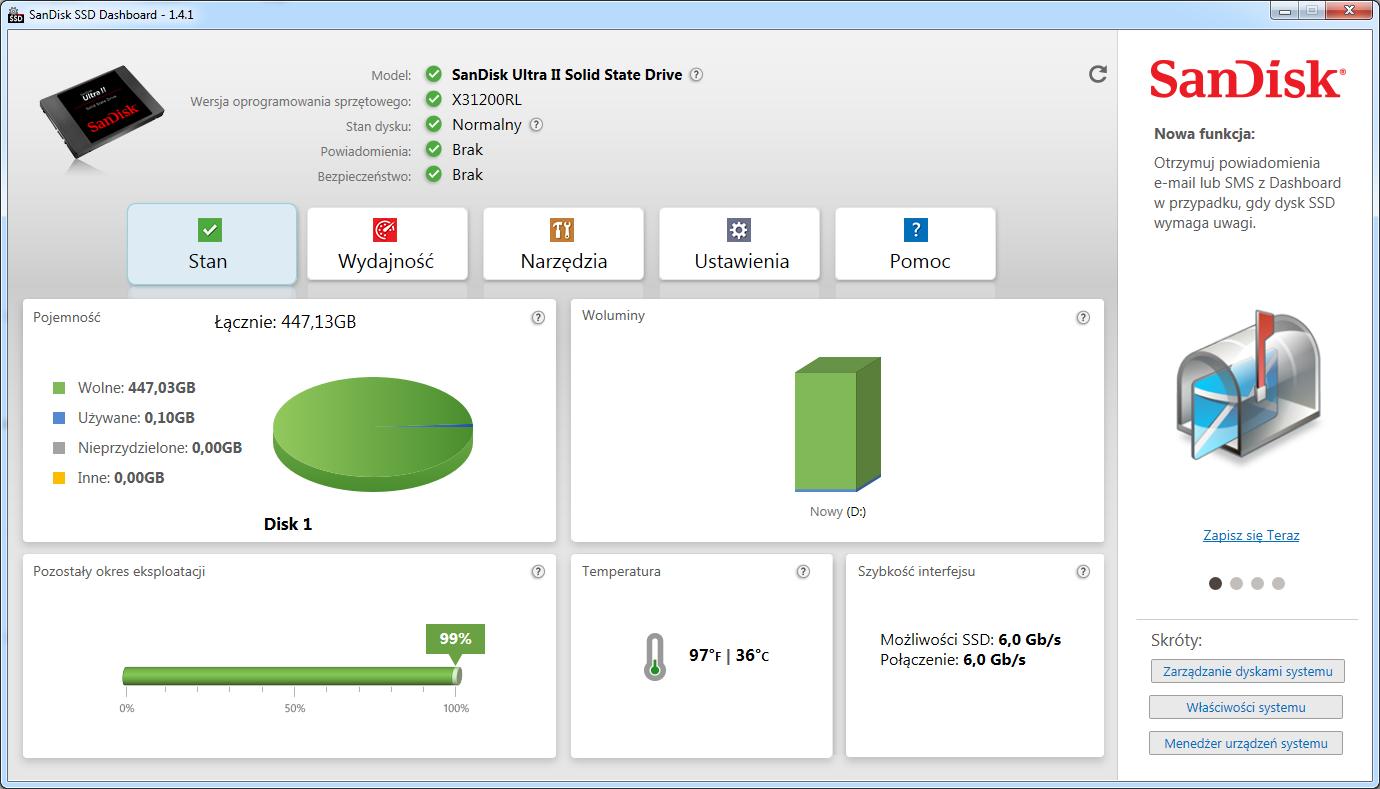 SanDisk Ultra II 480 GB - aplikacje