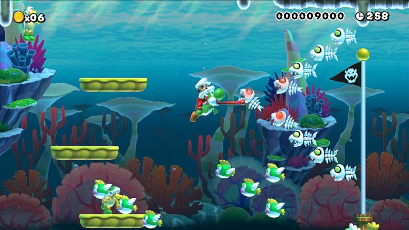 Super Mario Maker - screen z gry