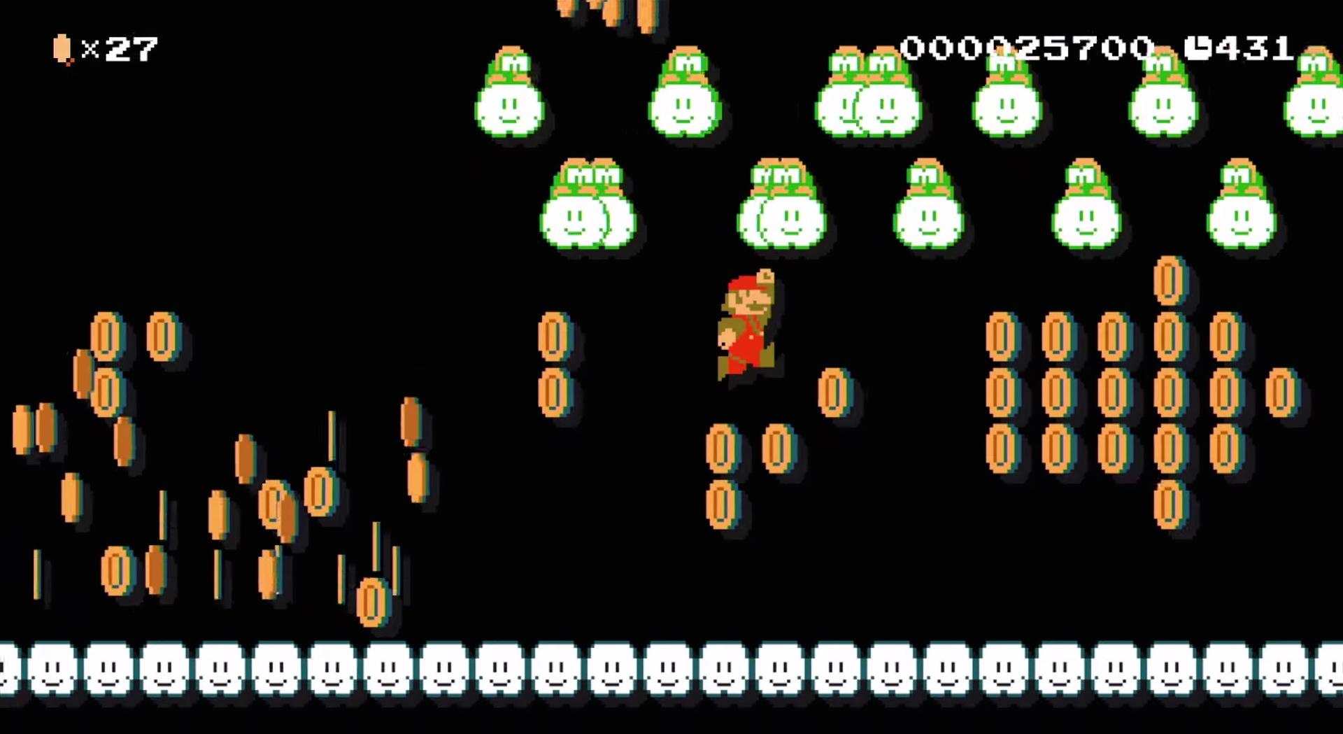 Super Mario Maker - zbieranie monet