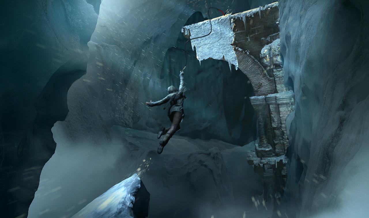 Rise of the Tomb Raider - skok nad przepaścią