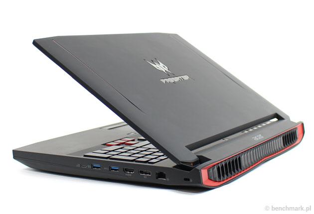 Acer Predator 15 profil tył