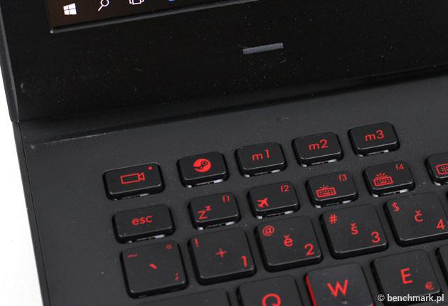 Asus G751JY klawisze programowalne