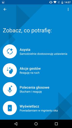 Motorola Moto X Style - gesty i akcje