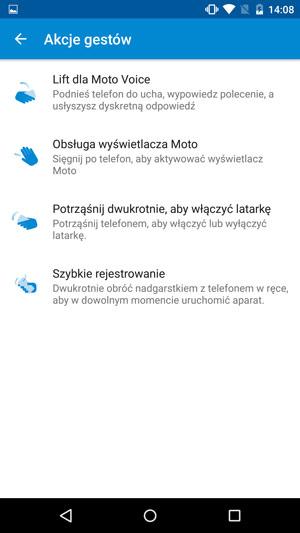 Motorola Moto X Style - gesty