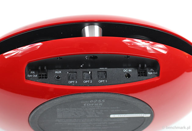 Edifier E255 - złącza sygnałowe
