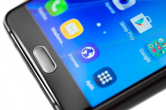 Samsung Galaxy A5 2016 - przycisk pod wyświetlaczem
