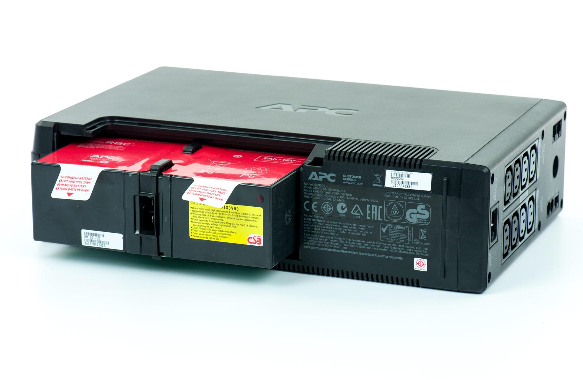 APC model Back-UPS Pro 900 - bateria na czas trnasportu