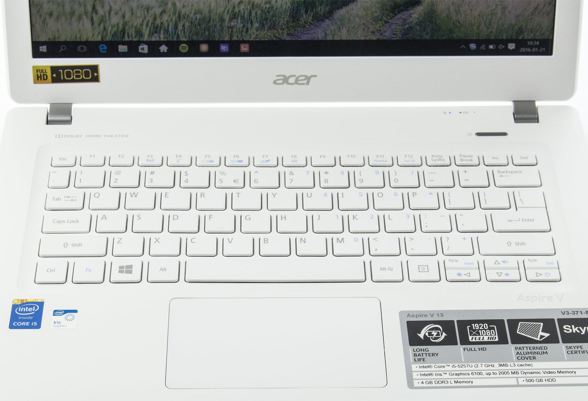 Acer Aspire V3-371-55EH panel roboczy