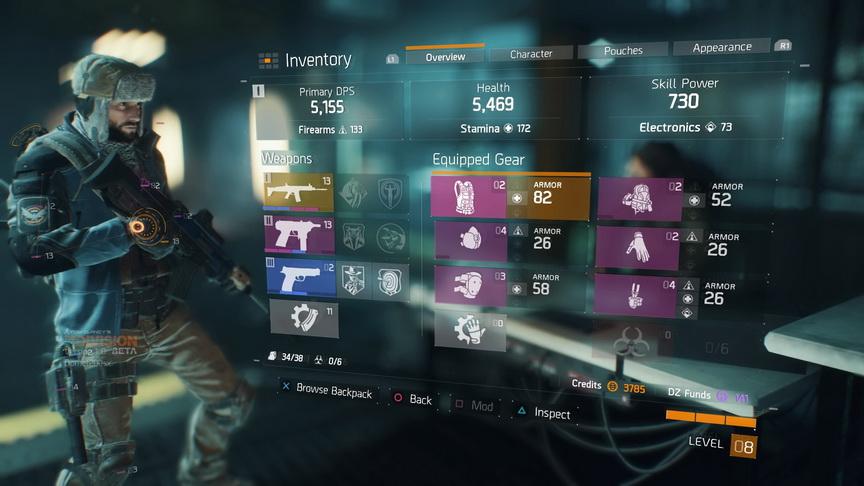 The Division beta - arsenał i pancerz