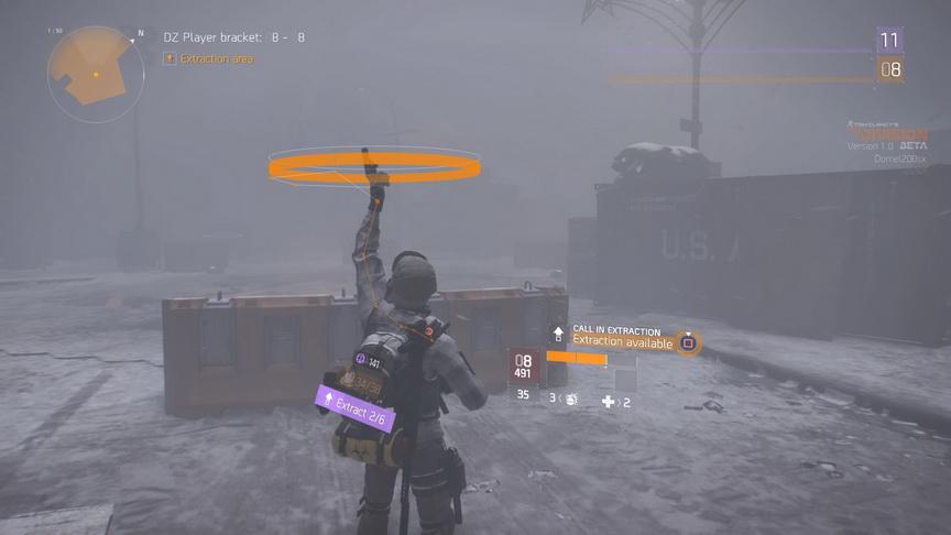 The Division beta - wzywanie śmigłowca