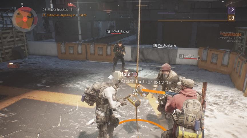 The Division beta - kolejka do transportu