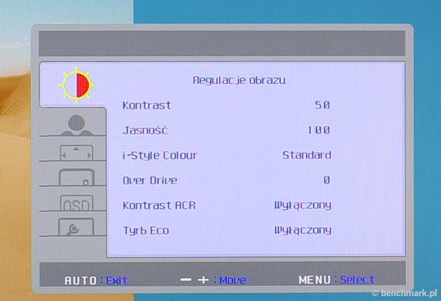 iiyama ProLite XUB3490WQSU menu OSD
