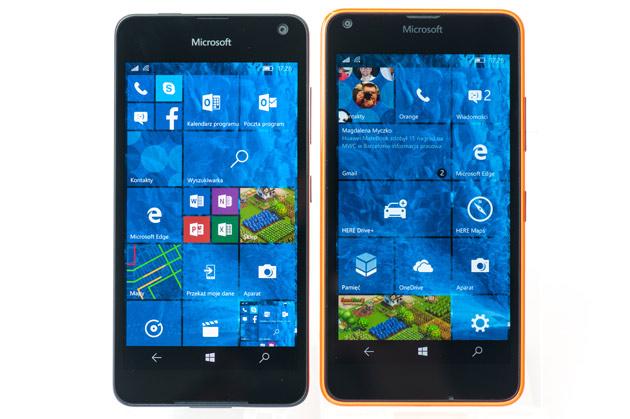 Lumia 650 vs Lumia 640 - ekran