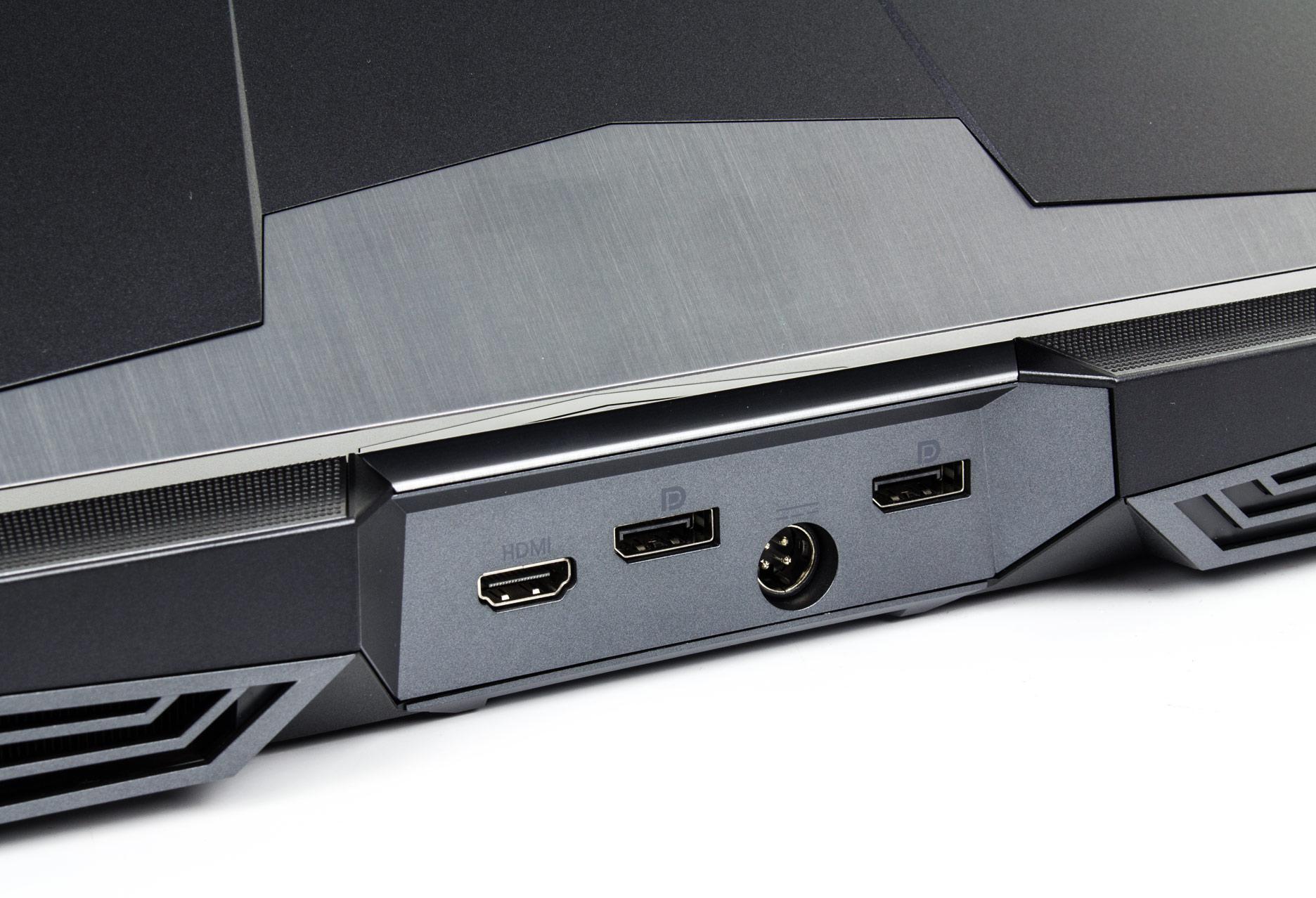 Hyperbook X77DM-G złącza tył