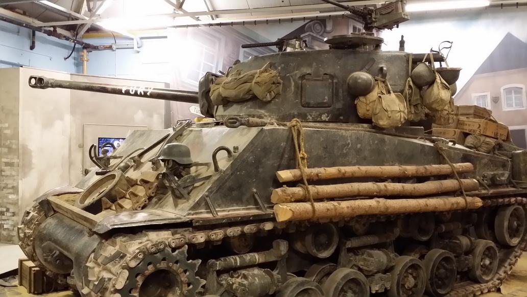 Spotkanie z Wargaming w muzeum w Bovington - filmowa Furia