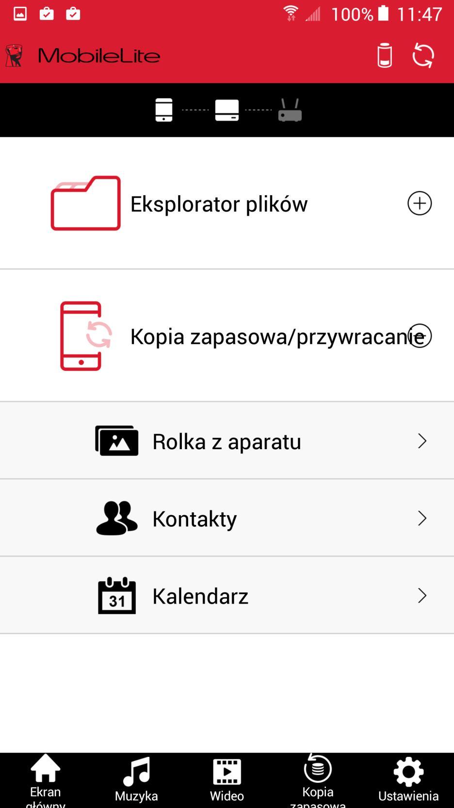 Kingston MobileLite aplikacja android 1
