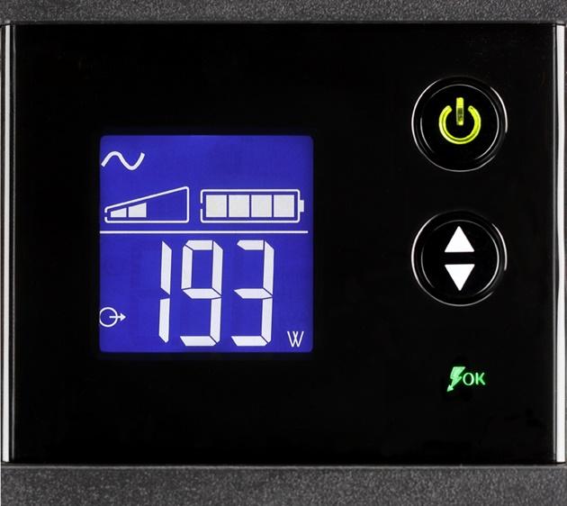 Eaton Ellipse Pro 1200 wyświetlacz
