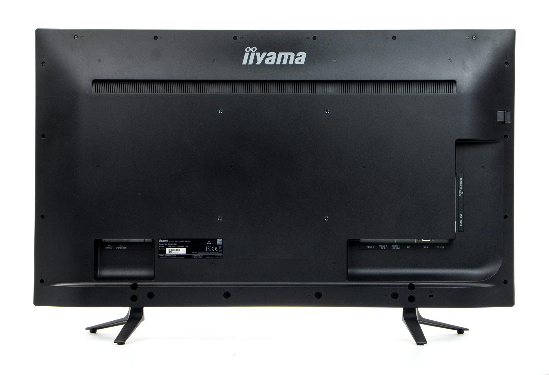 iiyama ProLite X4071UHSU-B1 tył