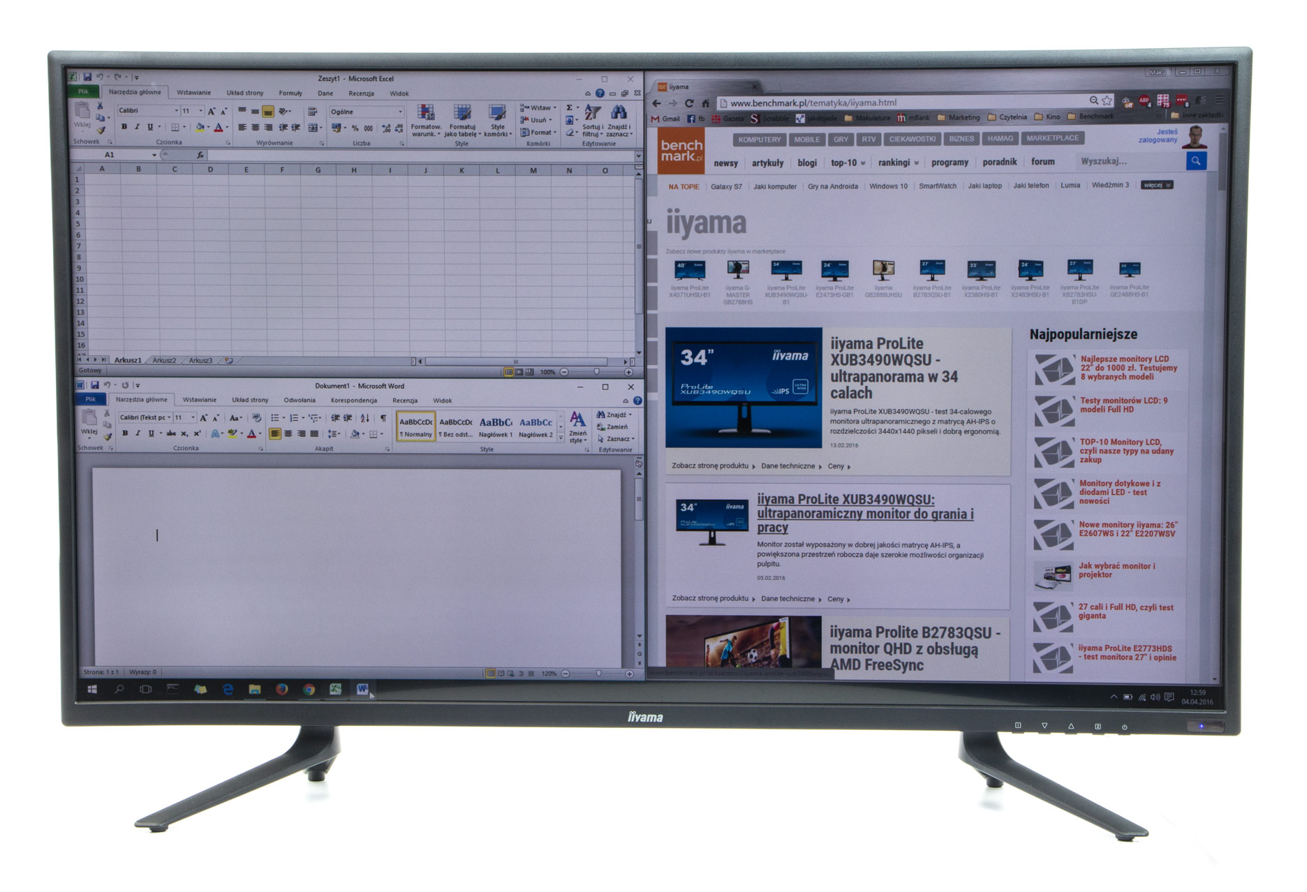 iiyama ProLite X4071UHSU-B1 podzielony ekran