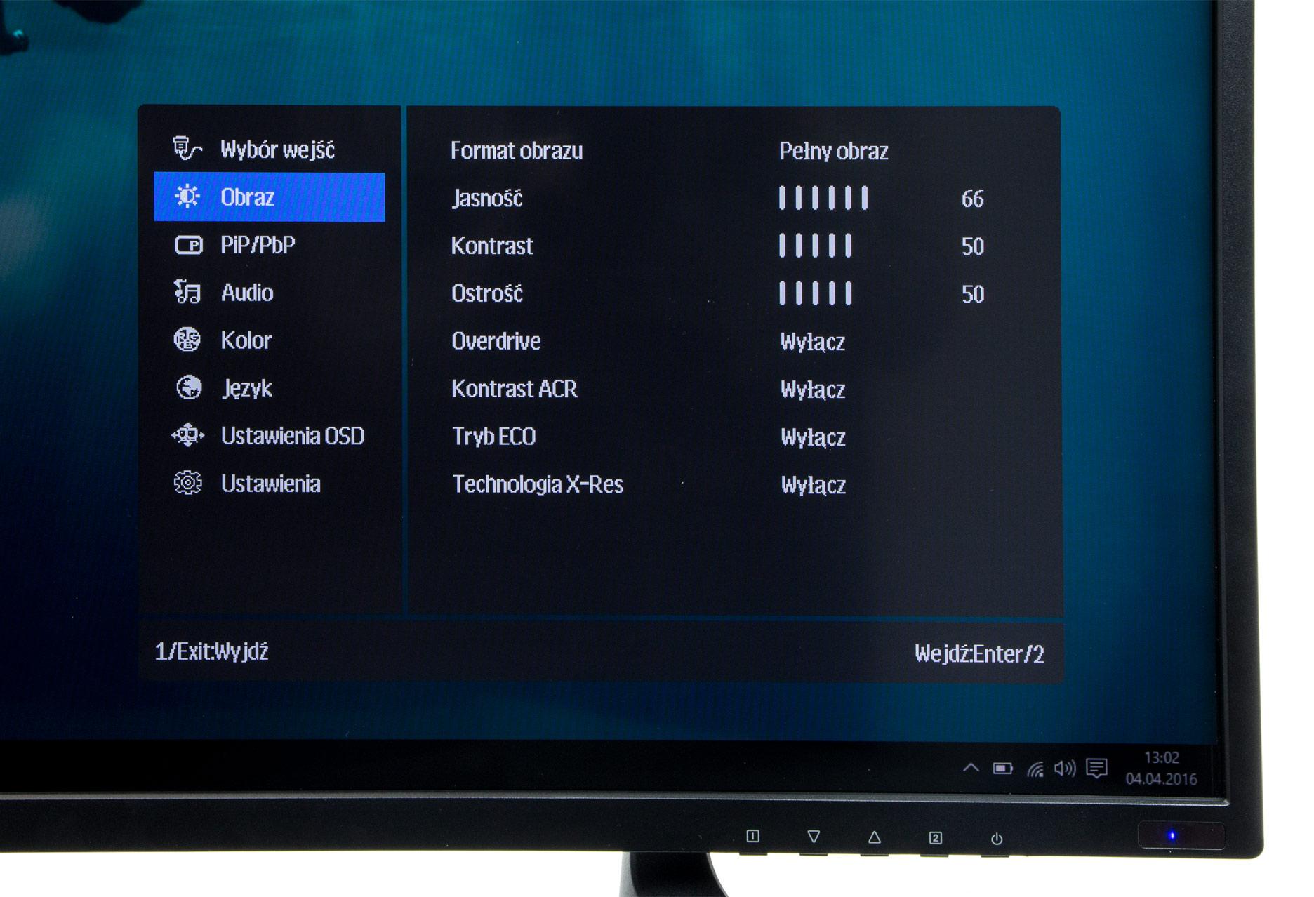 iiyama ProLite X4071UHSU-B1 menu OSD