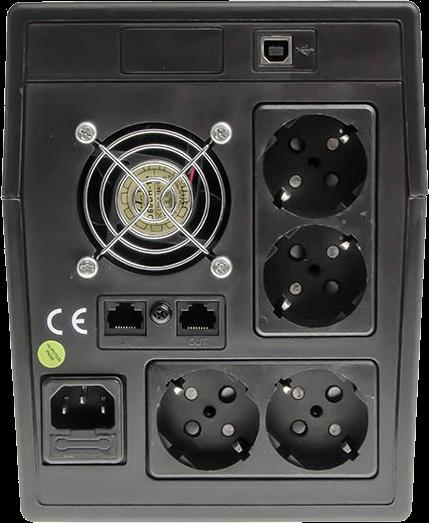 Green Cell Micropower 2000 tył urządzenia