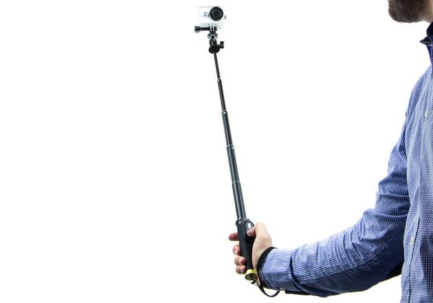 Xiaoyi Action Camera - selfie stick rozłożony