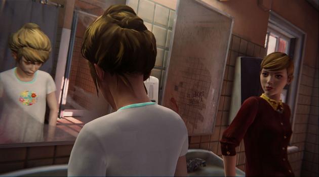 Life is Strange - rozmowy dziewczyn w łazience